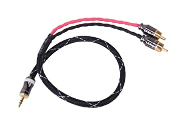 3.5mm (Headphone Jack) to RCA Cable 1 Meter