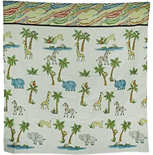Saturday Knight Safari Fabric Shower Curtain