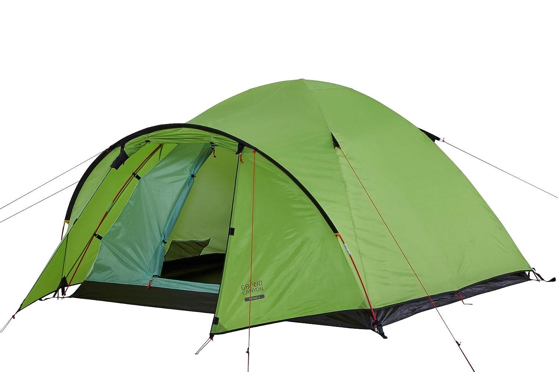 Grand Canyon Topeka 4 - großezügiges Kuppel-/ Igluzelt, 4 Personen, für Trekking, Camping, Outdoor, Festival, mit Vorbau für extra Stauraum, grün, 602013