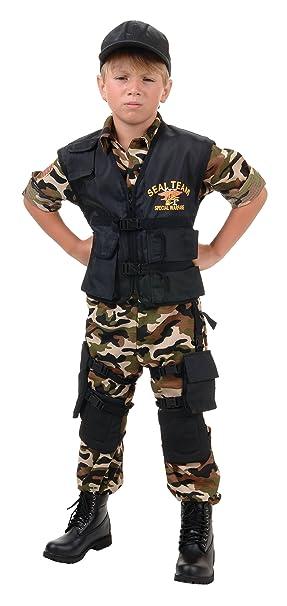 Amazon.com: NAVY Seal Team Deluxe disfraz para niños: Clothing