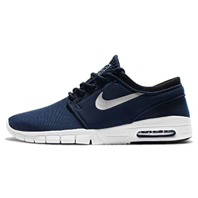 finest selection c0fd1 ce800 Image Unavailable. Image not available for. Color  Nike Men s Stefan  Janoski Max Obsidian Metallic Silver-white-blackSneakers ...