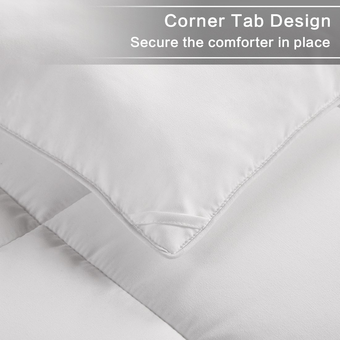 WARM HARBOR Queen All Season White Down Alternative Quilted Comforter and Duvet Insert - Luxury Hotel Collection Premium Lightweight(Queen,White) by WARM HARBOR (Image #5)