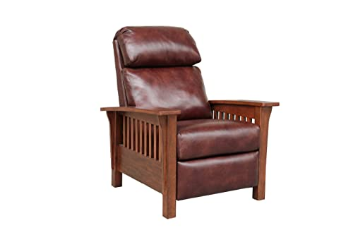 BarcaLounger Mission 7-3323 Craftsman All Leather Push Back Manual Recliner Chair – 5702-87 Wenlock Fudge All Leather