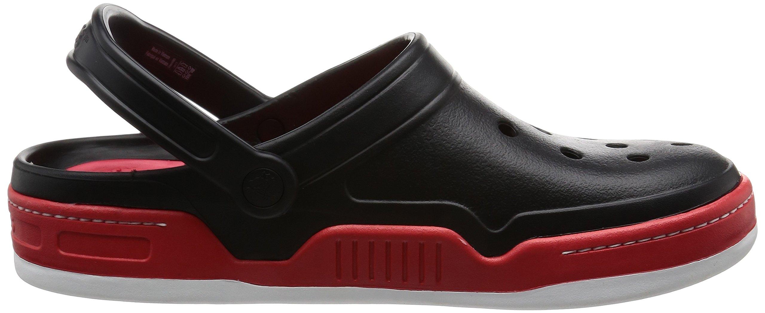 Crocs Men's 14300 Front Court Clog, Black/Red, 10 M US by Crocs (Image #7)
