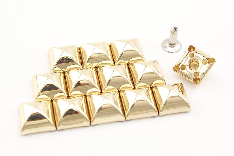 24 Sets per lot AC52A Nickel Clothing 12mm x 6mm Iron Pyramid Rivet Shoes Purse Rivets Spike Rivet Studs Spots Leather Rivet for Bag Making,Rivet Replacement
