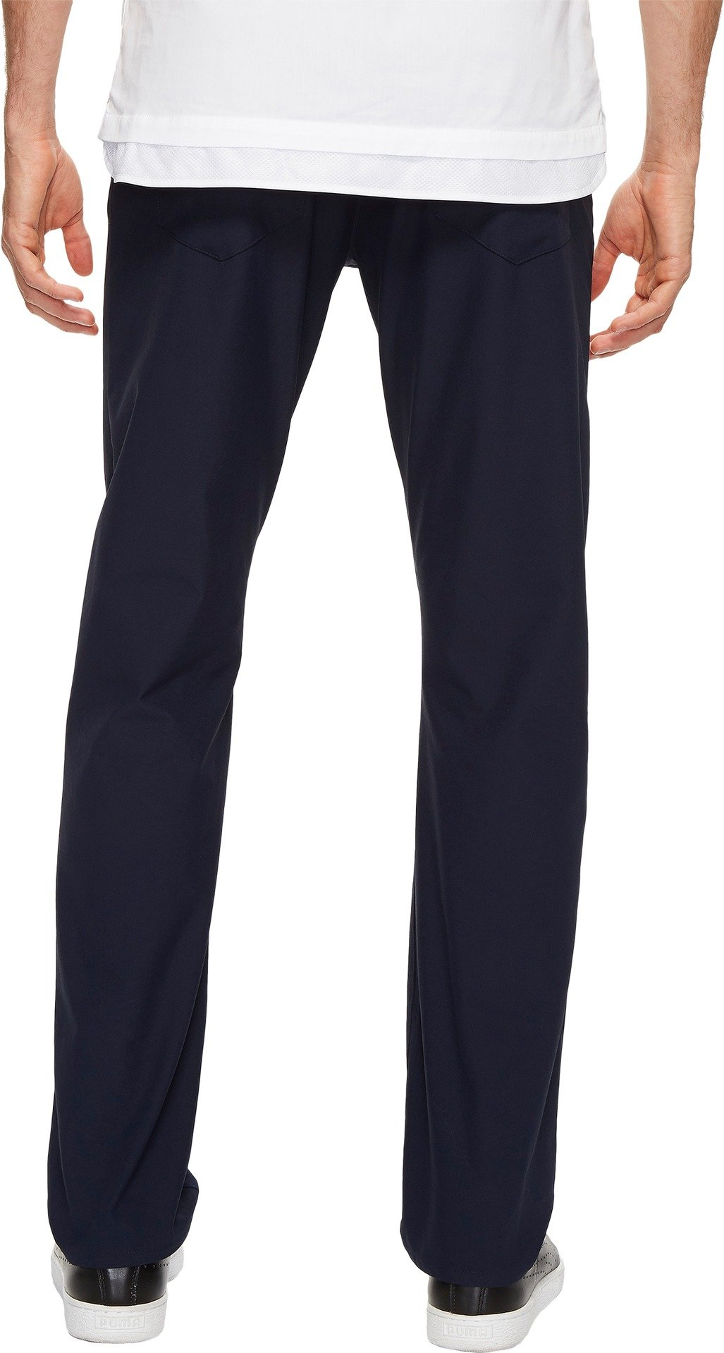 Calvin Klein Men's Infinite Slim Fit Trouser Suit Pant 4-Way Stretch, Sky Captain Blue, 36W 32L