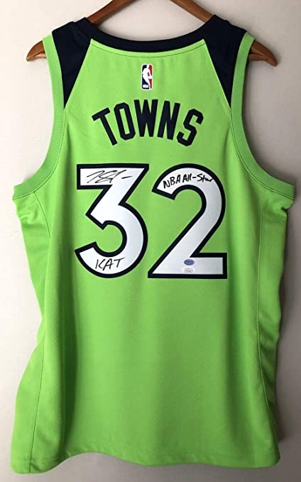 competitive price b6db3 00300 Karl-Anthony Towns Autographed Signed & Inscribed ...