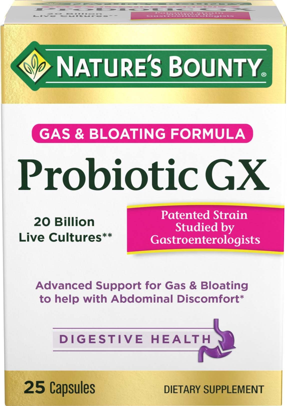 Natures Bounty Probiotic Gx Capsules, 25 Count
