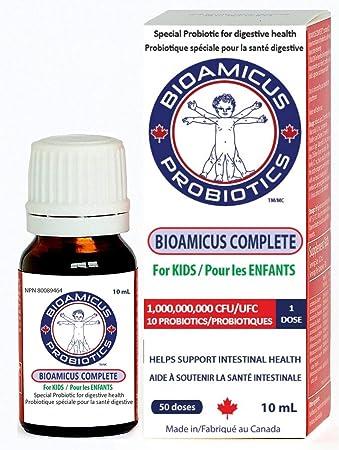 BIOAMICUS Complete Probiotic Drops for Infants & Toddlers. 10 Strains per dose.