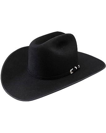 7765c25a3b3c5 Stetson Men s Lariat 5X Fur Felt Cowboy Hat - Sflratb-7540 Black at Amazon  Men s Clothing store