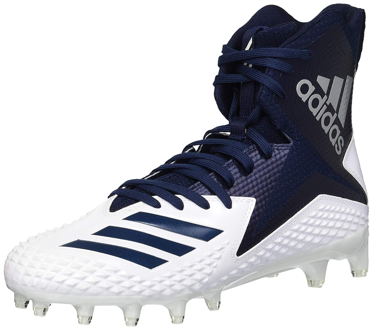 adidas Men's Freak X Carbon Mid Football Shoe, White/Collegiate Navy/Collegiate Navy, 6.5 M US by adidas