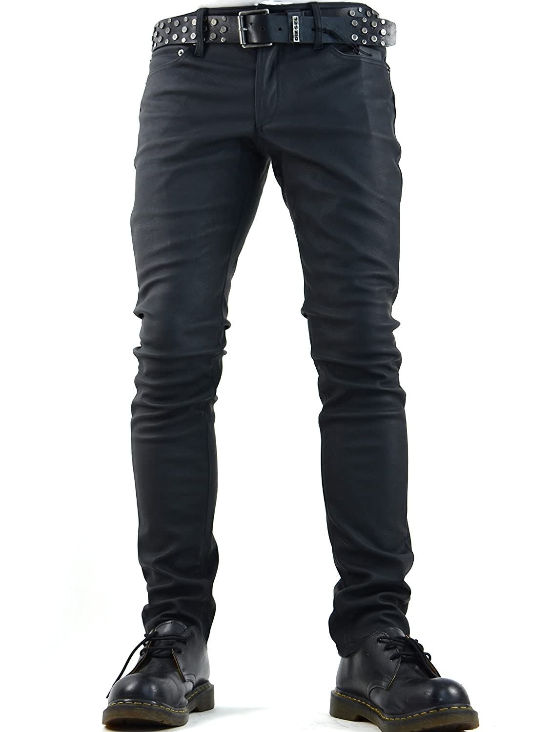 Gothic Rocker Faux Leather PVC Vinyl Jeans Pants