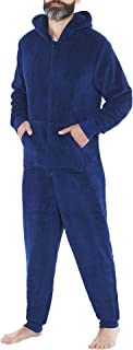 Just Essentials Mens Unisex Fleece Onesies Hooded Jumpsuit All in One