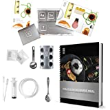 Molecule-R 50 MEAL COOKBOOK COMBO Cuisine Molecular Gastronomy Kit AND Culinary Food Styling Syringe Marinade Injector - Special Double Pack