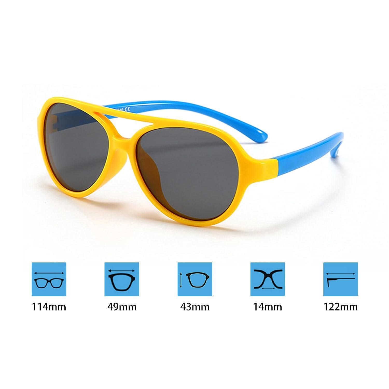 Qixuan Gafas de Sol Polarizadas Niño y Niña (2-10años ...
