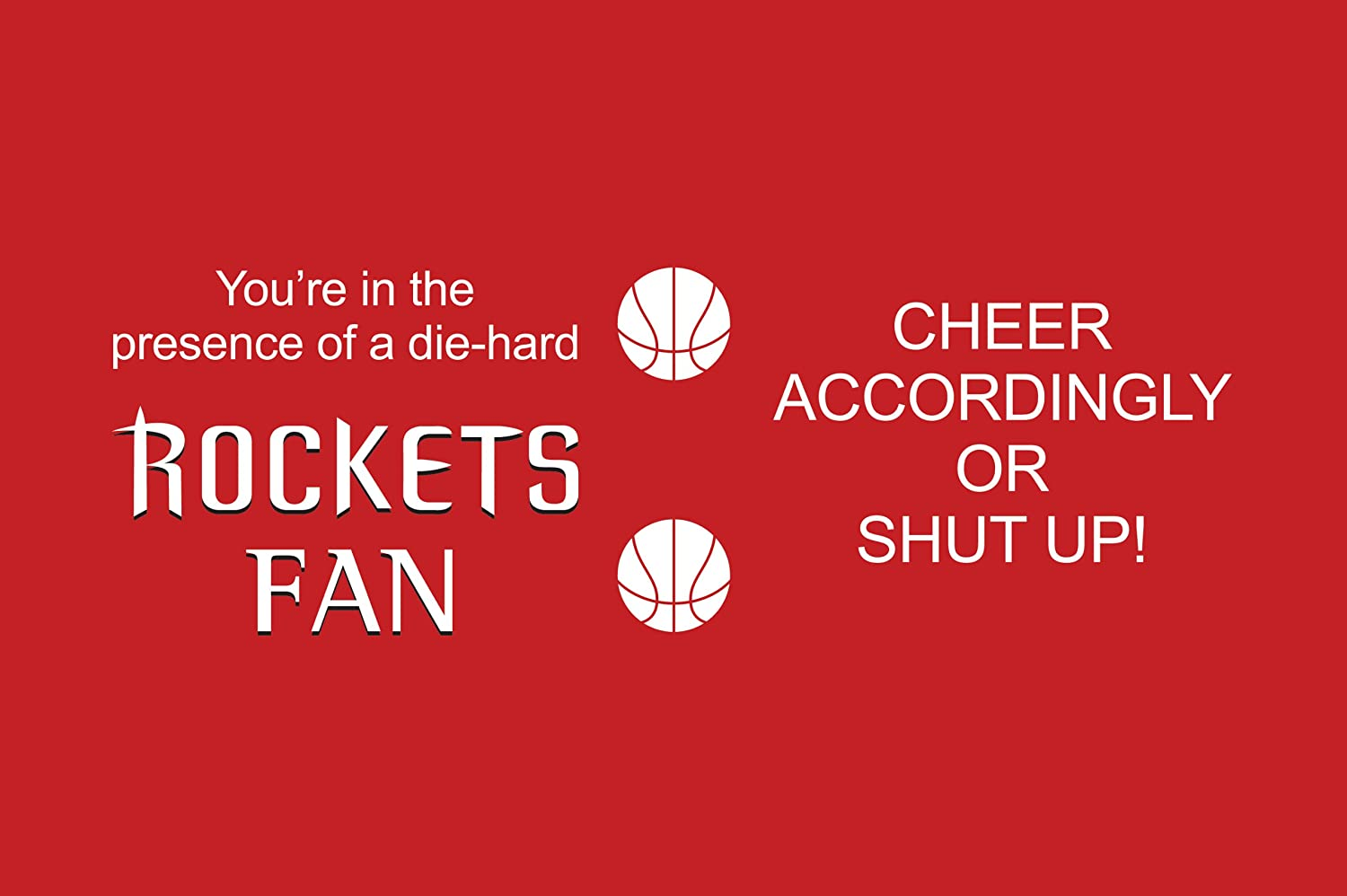 Tree-Free Greetings sg24149 Rockets Basketball Fan Sip N Go Stainless Steel Lined Travel Tumbler 16-Ounce
