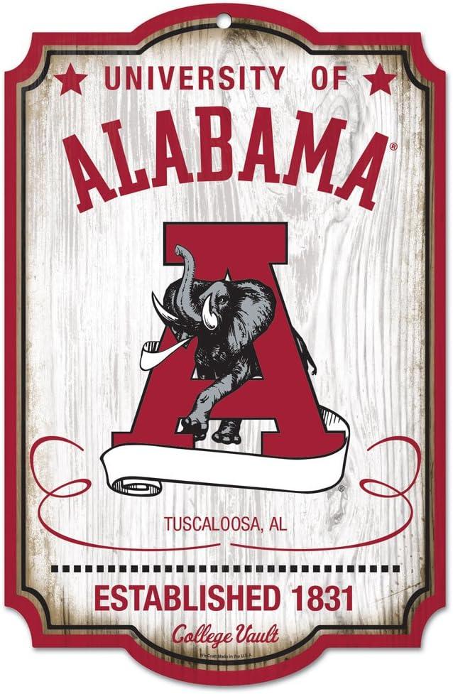 Alabama Crimson Tide Vintage 11x17 Wood Sign