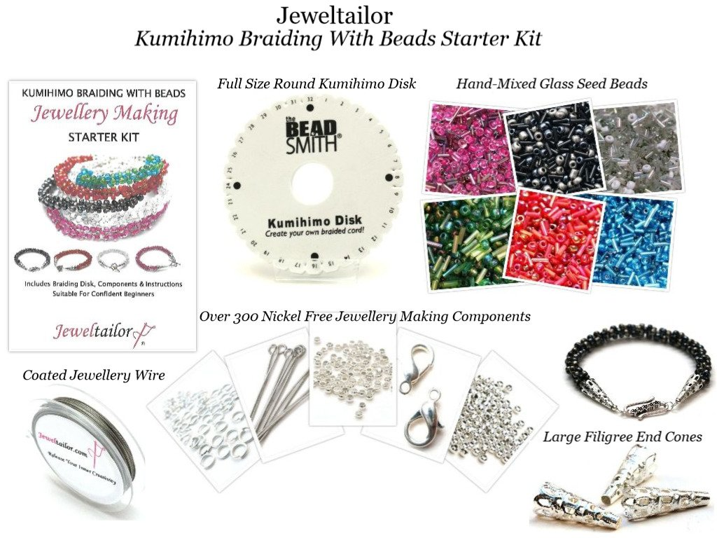 Jeweltailor New Complete Kumihimo Braiding With Beads Starter Kit