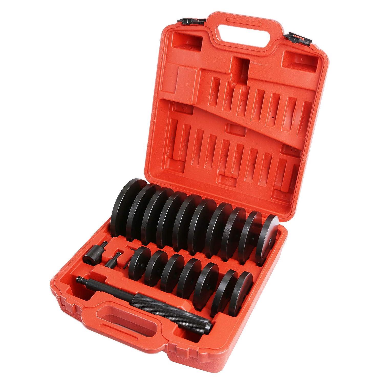WINTOOLS 21Pcs Extra Large Custom Bush Bearing and Seal Driver Set Hydraulic Press