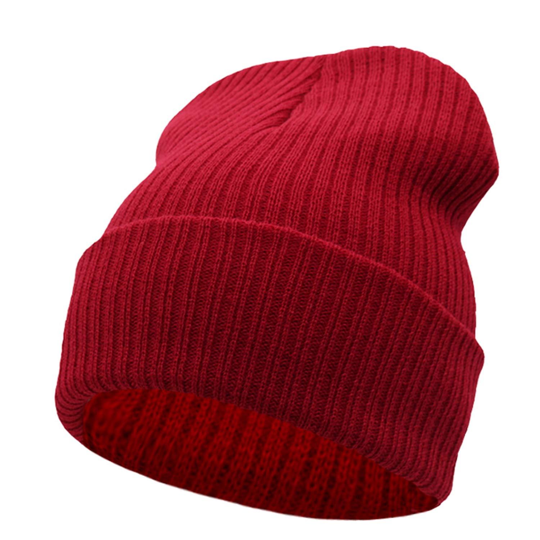 Amazon.com  Beanies Winter Hat for Women Winter for Women Men Knit Caps  Blank Casual Wool Warm Flat Bonnet Beanie 2018 Army Green  Clothing 65c1740a7707
