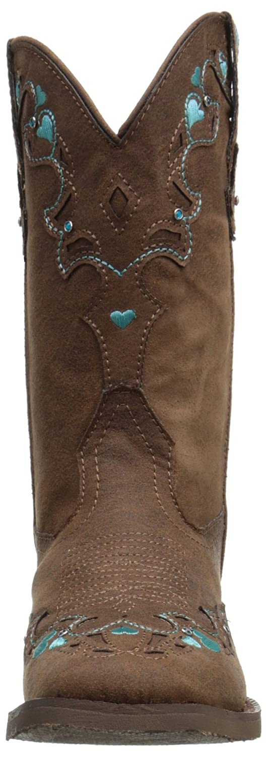 Toddler//Little Kid Roper Hearts Square Toe Cowgirl Boot K Roper Kids Footwear Hearts