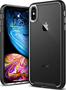 Caseology Skyfall for iPhone Xs Max Case (2018) - Clear Back & Slim Fit - Black
