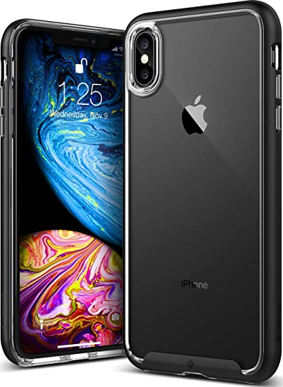 online retailer d9032 ebf7d Caseology Skyfall for iPhone Xs Max Case (2018) - Clear Back & Slim Fit -  Black