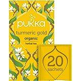 Pukka Herbs Turmeric Gold, Organic Herbal Tea with Lemon & Whole Leaf Green Tea, 20 Tea Bags(Pack of 1) 109193635
