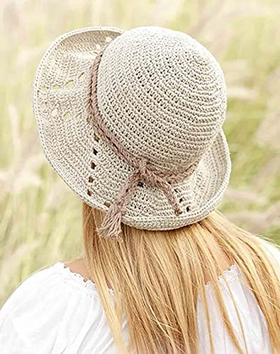6343d7a4afa Amazon.com  Summer hat Sun hat Womens Beach hat Spring hat Cotton hat  Bucket hat Wide Brim hat Hemp hat Crochet hat Floppy hat Derby hat Straw hat   Handmade