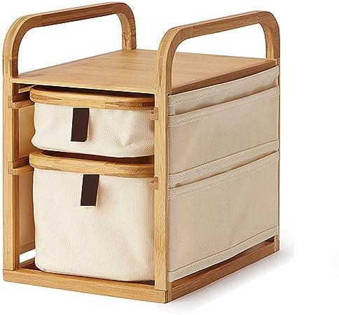 WSXEDC Organizador de escritorio de madera, Vestir organizador de mesa con cajones, for el escritorio de almacenamiento for sus suministros de oficina, control remoto, joyería, maquillaje y Smartphone: Amazon.es: Hogar