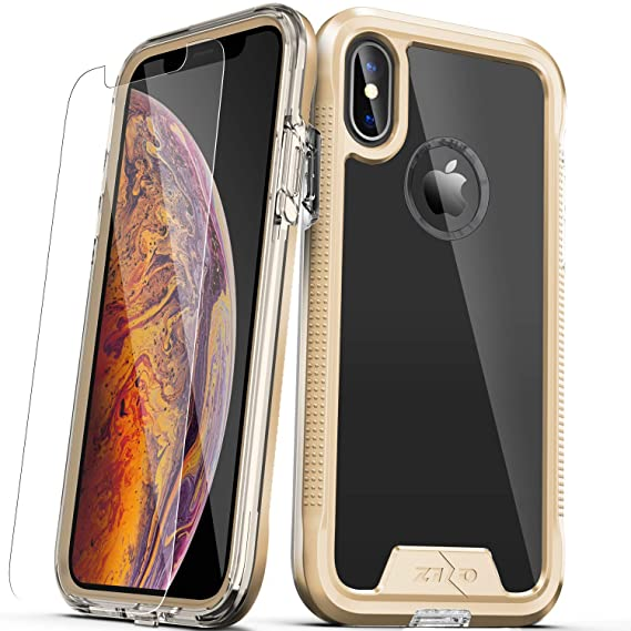 7c8de277c1d0 Image Unavailable. Image not available for. Color: Zizo ION Series  Compatible with iPhone Xs Max case Military Grade Drop Tested with Tempered  Glass