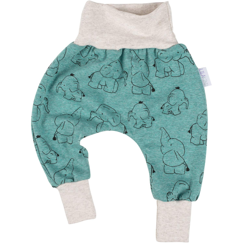 "new product 8c42c ce4f5 Lilakind"" Kinder Baby Jungen Hose Pumphose Fleece Elefanten ..."