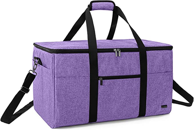 and Maker Luxja Carrying Bag Compatible with Cricut Die-Cutting Machine and Supplies Tote Bag Compatible with Cricut Explore Air Bag Only, Patent Pending Lavender Air2
