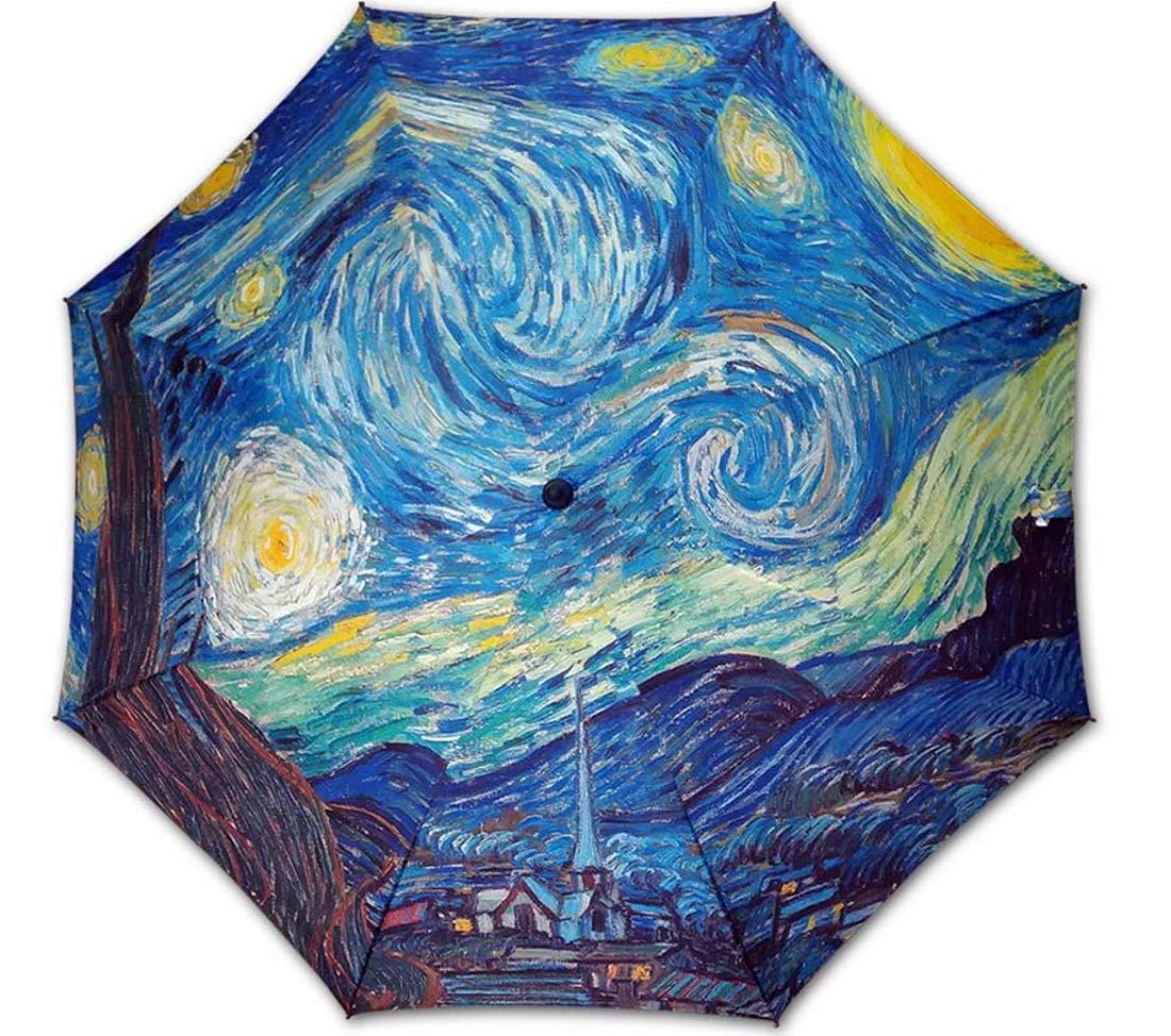 Mod/èle Canne La Nuit Etoil/ée Peintre : Van Gogh Parapluie dart de Luxe