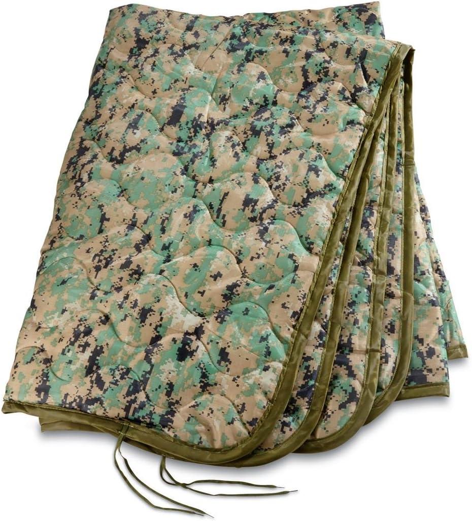 USGI Industries Military Camo All Weather Woobie Poncho Liner Blanket Marpat
