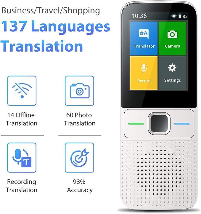 DDbrand Translation Smart Instant Real Time Voice Languages Translator Tool Device