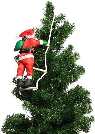 tianmeijia Navidad Papá Noel climbing- escalada en escalera de cuerda para árbol de Navidad interior/exterior para colgar, diseño de Papá Noel: Amazon.es: Hogar