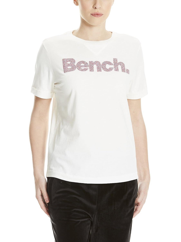 TALLA S. Bench Core Logo T-Shirt August Camiseta para Mujer