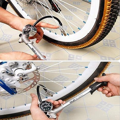 MYFGBB Bomba de Bicicleta, Inflable Amortiguador de Horquilla para ...