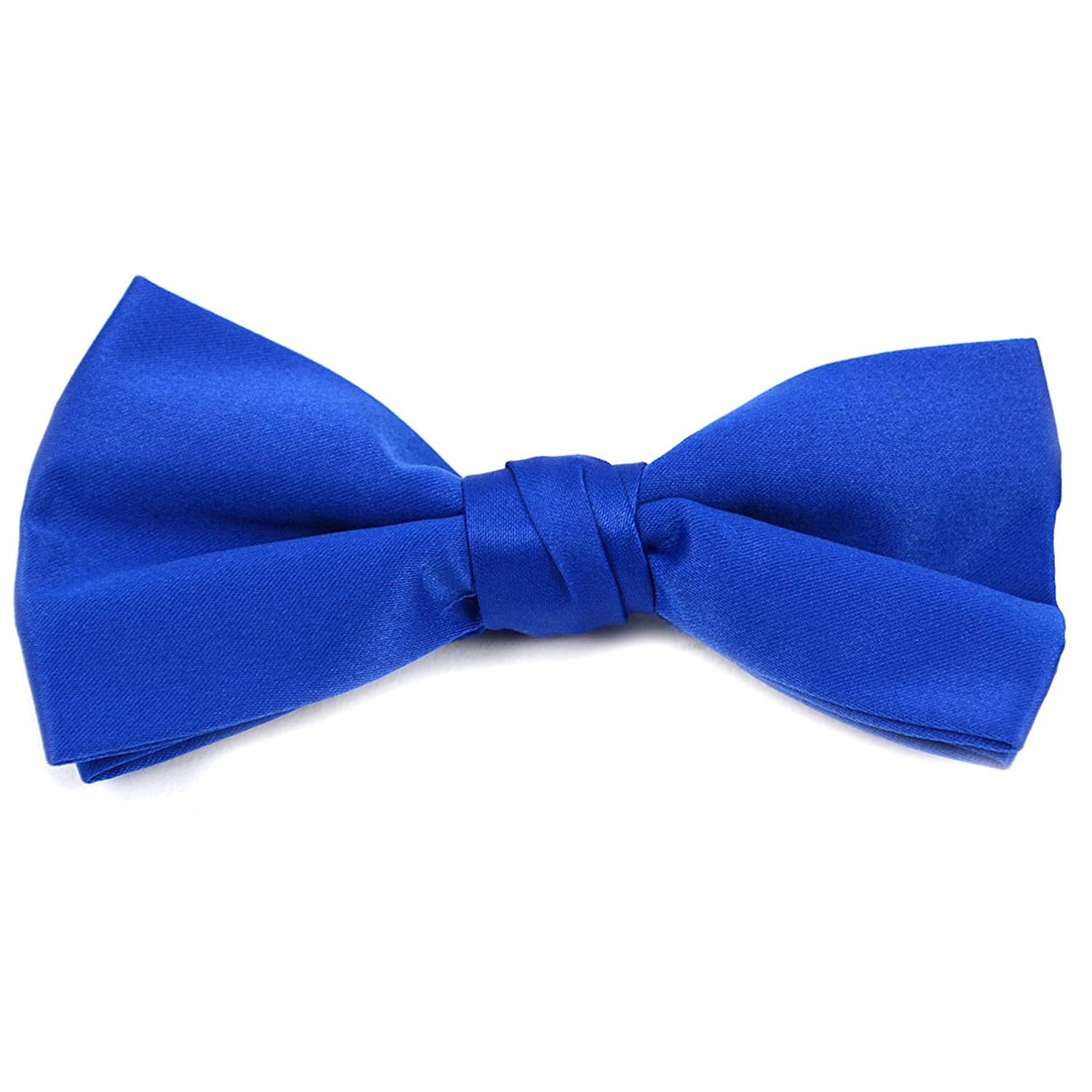 nice Formal Solid Polyester Boy's Bow Tie-Royal Blue on sale