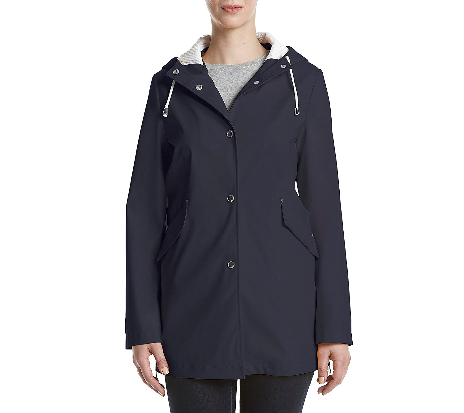 bluee French Connection Hooded Rain Jacket