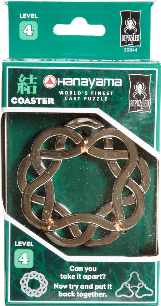 Level 4 CYLINDER Hanayama Cast Metal Brain Teaser Puzzle University Games 30811