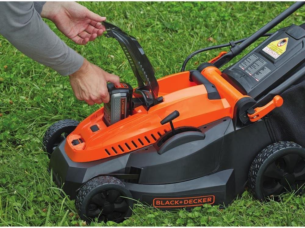 black & decker cordless lawn mower