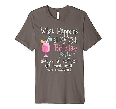 Mens Cute 75th Birthday T Shirt