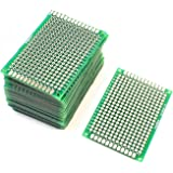 Saim PCB Board Prototype Double Sided DIY PCB Prototype Solderable Copper Circuit Board Breadboard for Projects, 4cm x 6cm, 20Pcs