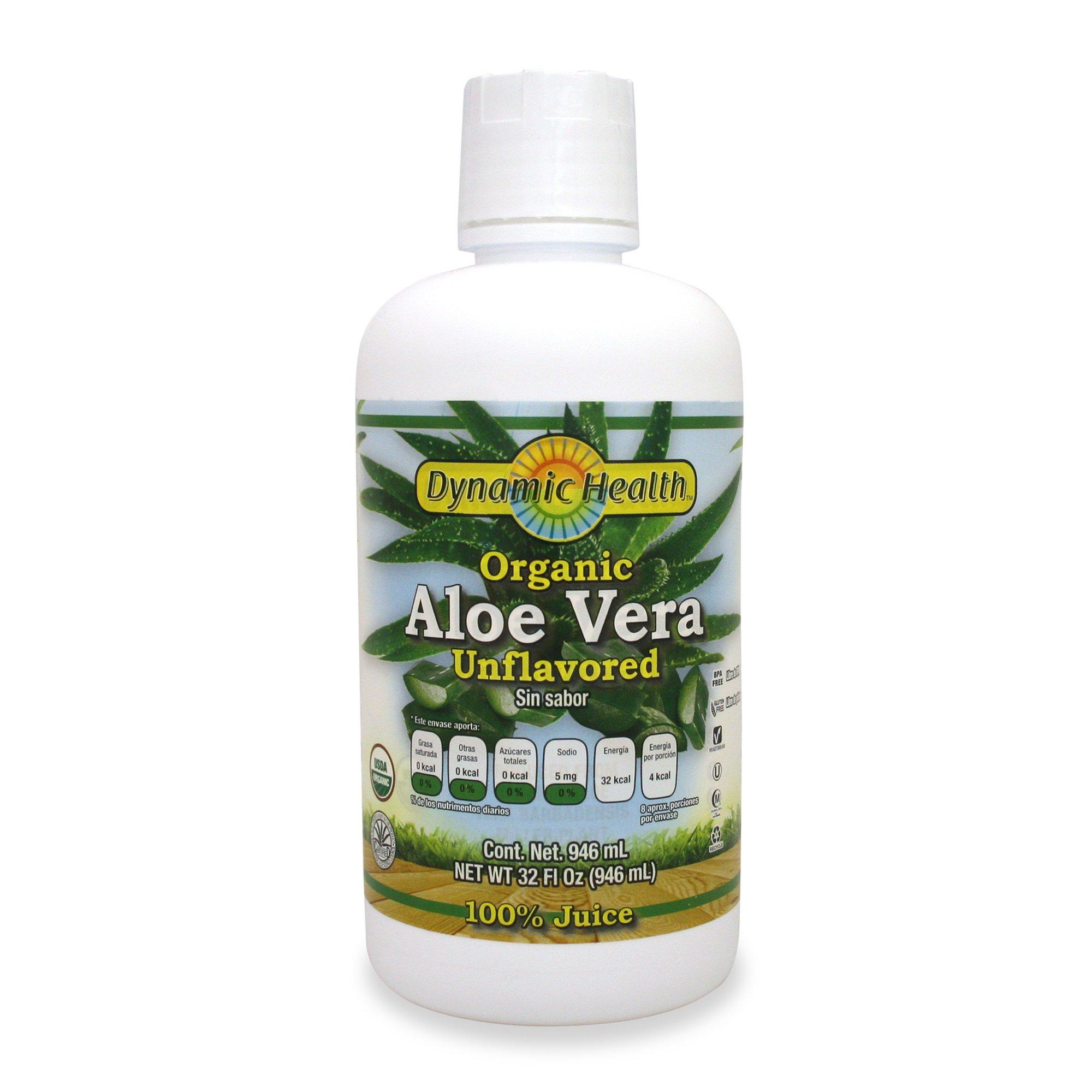 Amazon Dynamic Health Organic Aloe Vera Sin Sabor 946 Ml