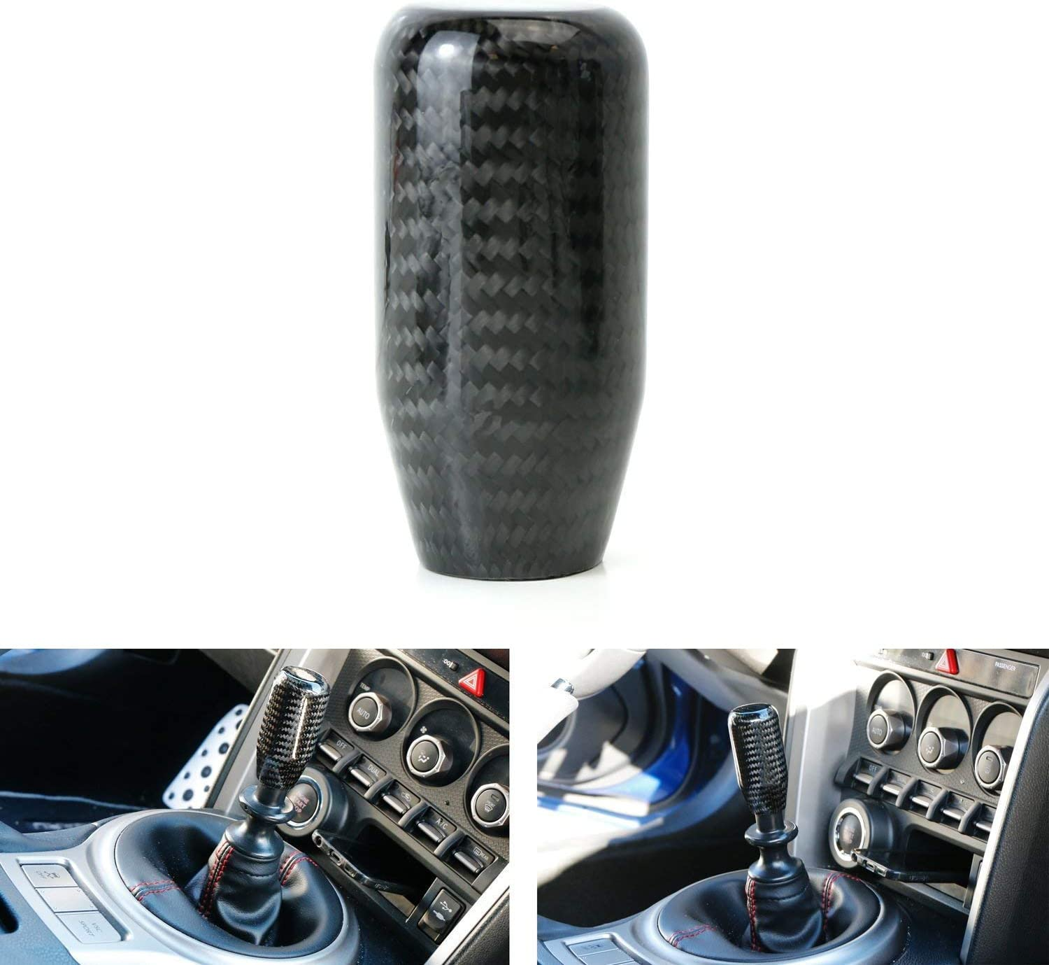Gear Shifter Shift Knob Carbon Fiber Manual Gear Transmission Universal