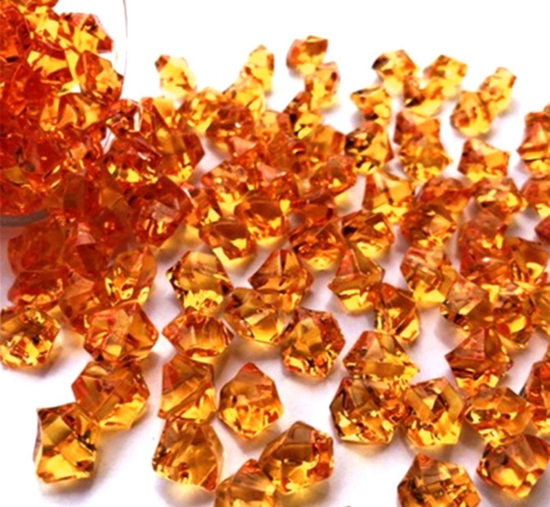 Ivie colorato cristallo pietra pietra di vetro acrilico trasparente per acquario, acquario, Terrariums, vaso, piante, decorazione per giardino (200GRAMS) (arancione)