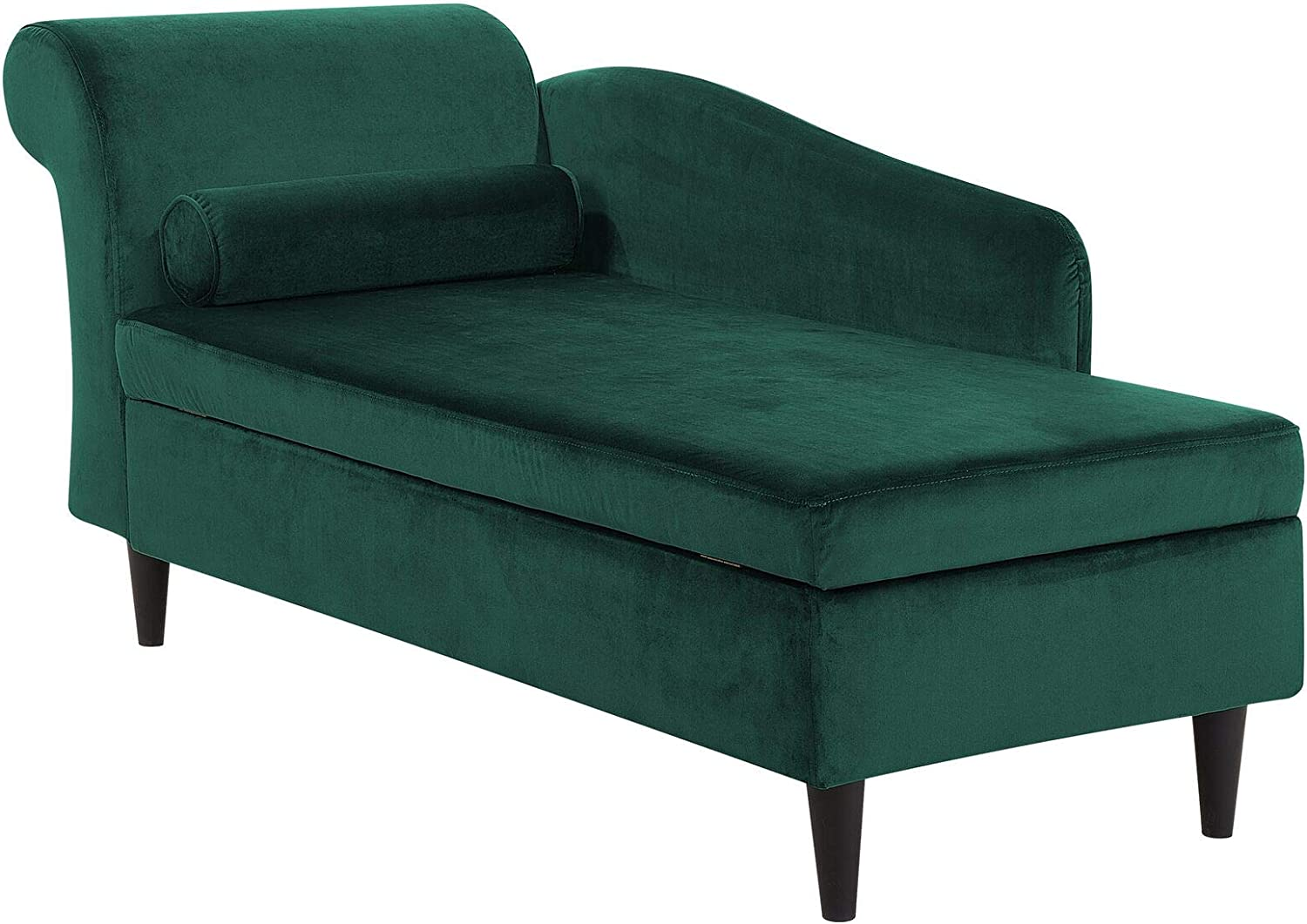 - Living Room Left Hand Velvet Chaise Lounge With Storage Emerald