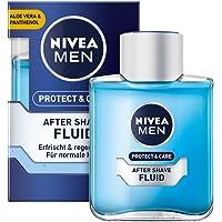 NIVEA MEN Protect & Care płyn po goleniu (100 ml), uspokajający po goleniu, pielęgnacja skóry po goleniu z aloesem i…